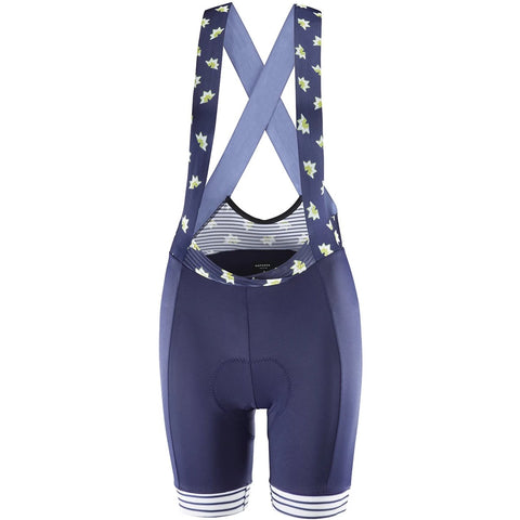 Katusha Women ALLURE Cycling Bib Shorts - Peacoat Blue Pattern Mix