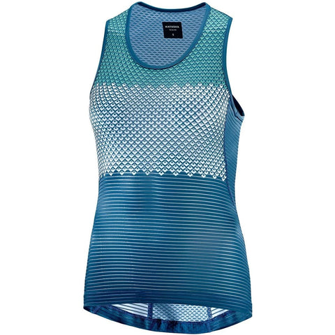 Katusha Womens ALLURE Cycling Base Layer - Blue Sapphire AOP