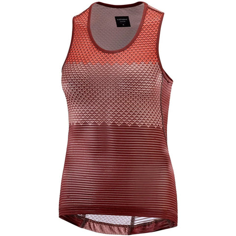 Katusha Womens ALLURE Cycling Base Layer - Fired Brick AOP