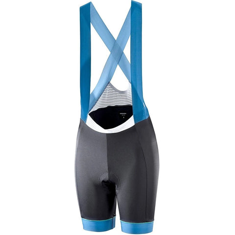 Katusha Womens ALLURE Cycling Bib Shorts - Black Blue Sapphire