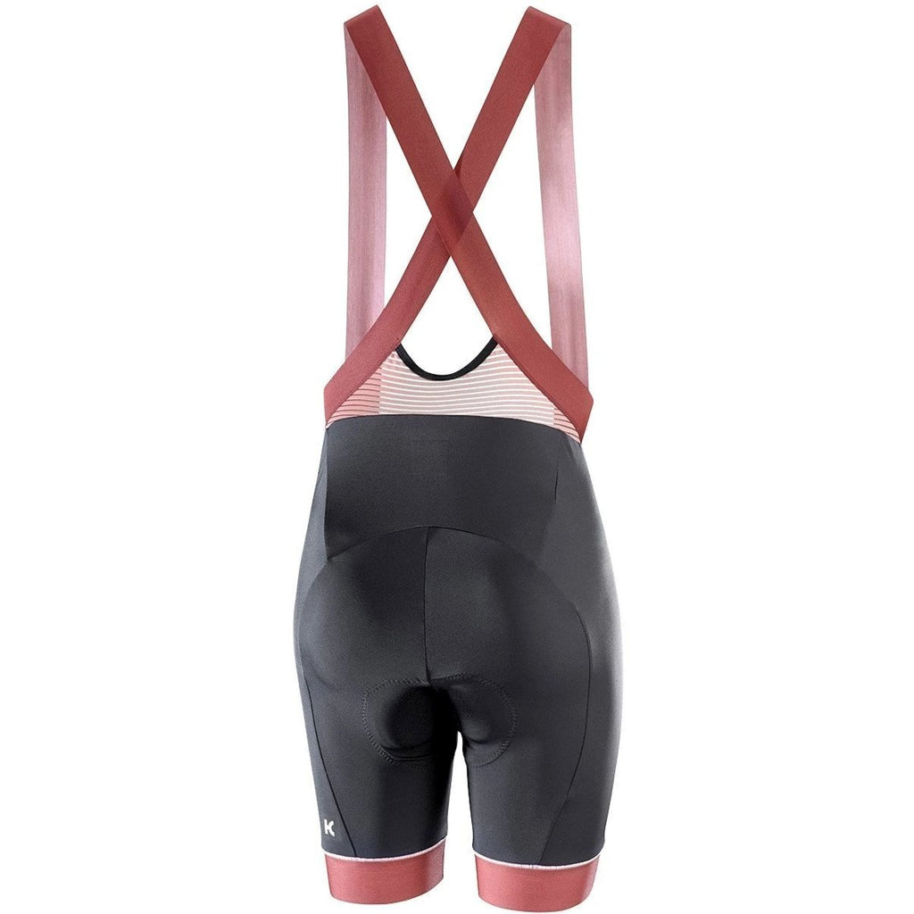 Katusha Womens ALLURE Cycling Bib Shorts - Black Fired Brick