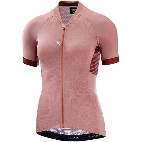 Katusha Womens ALLURE Cycling Jersey Short Sleeve - Light Mahogany AOP