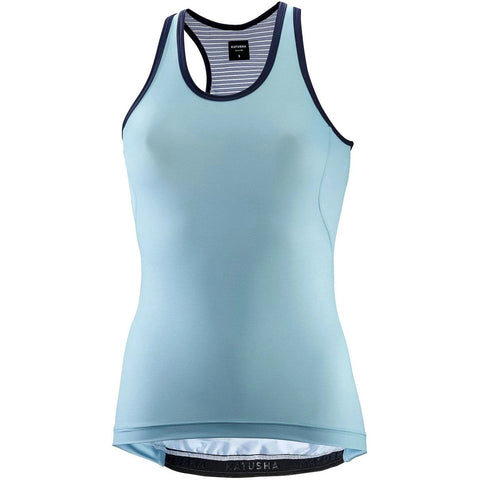Katusha Womens ALLURE Cycling Jersey Sleeveless - Aquarelle AOP Mikado