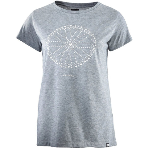Katusha Cycling Womens DRI RELEASE T-shirt Short Sleeve - UR Light Grey