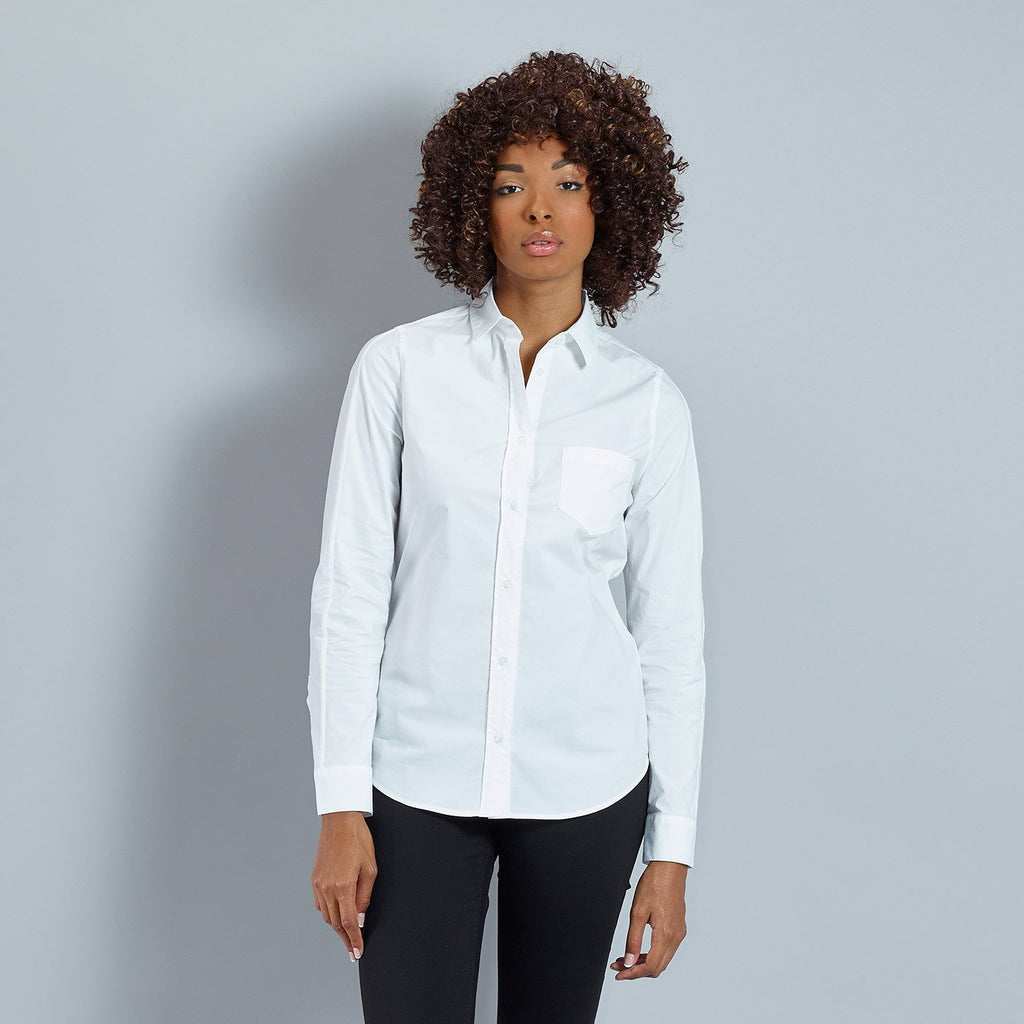 Katusha Cycling Womens SLIM Shirt Long Sleeve - White