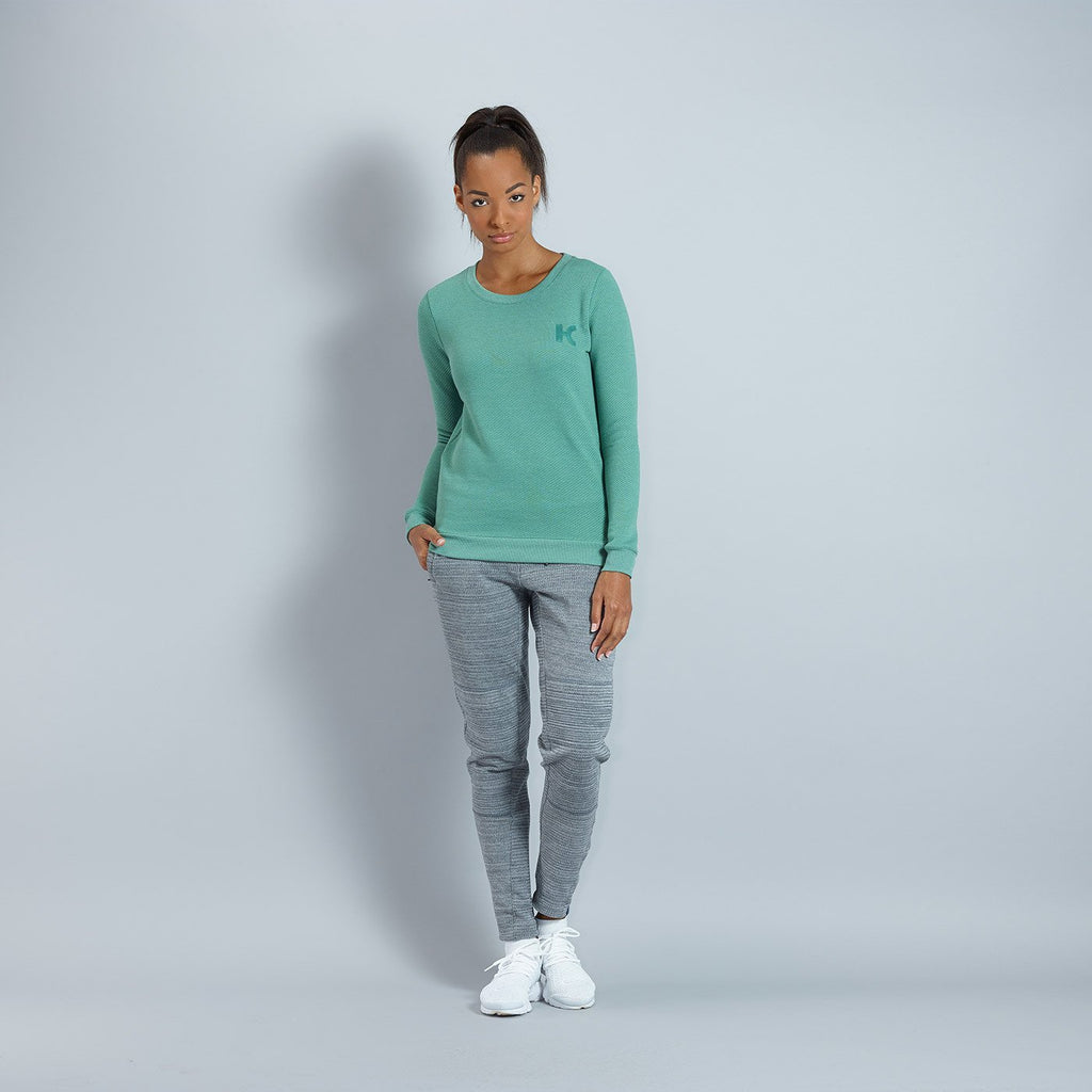 Katusha Cycling Womens SWEATSHIRT - Duck Green