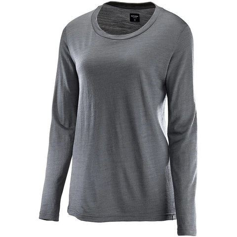 Katusha Cycling Womens MERINO T-shirt Long Sleeve - Iron Gate