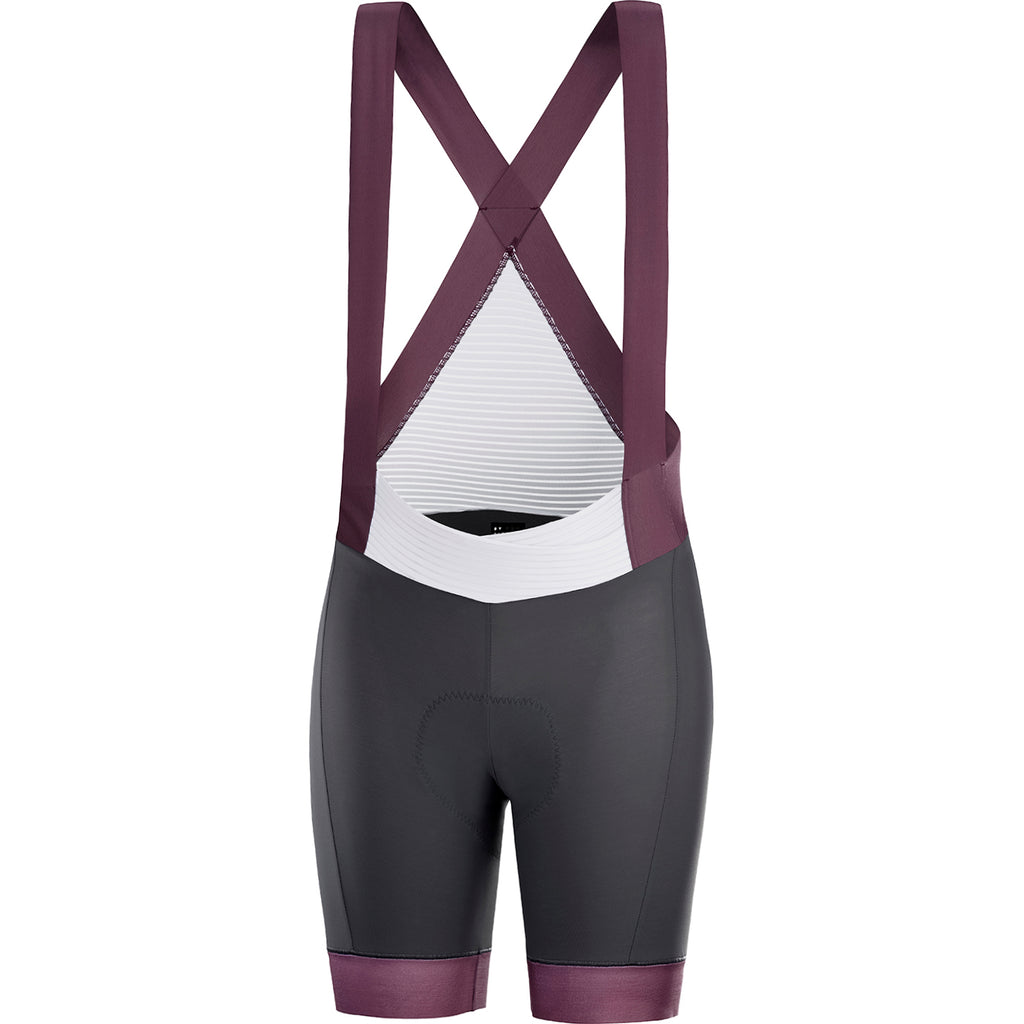 KATUSHA Women's Allure Cycling Bib Shorts - Asphalt/Plum Wine