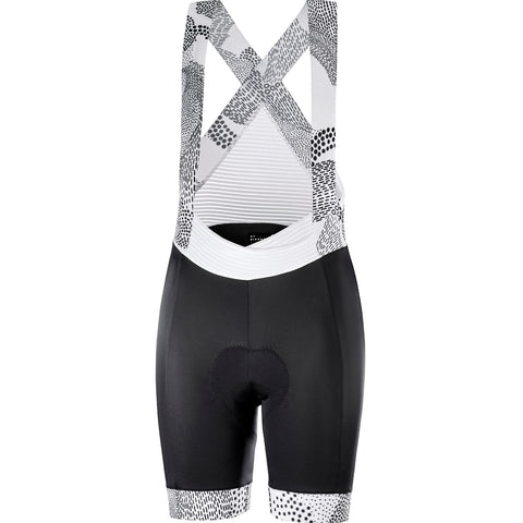 KATUSHA Women's Allure Cycling Bib Shorts - Black Landscape