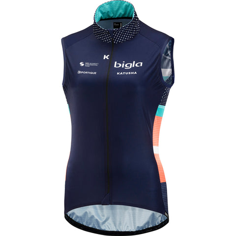 KATUSHA Women's TEAM Wind Vest - Bigla KATUSHA / Peacoat Blue