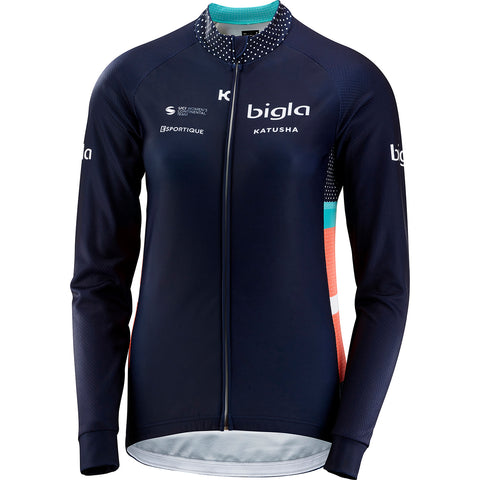 KATUSHA Women's TEAM Long Sleeve Cycling Jersey - Bigla KATUSHA / Peacoat Blue