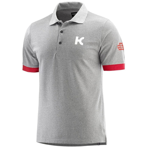 Team KATUSHA ALPECIN 2018 Polo Short Sleeve - Light Grey Coral