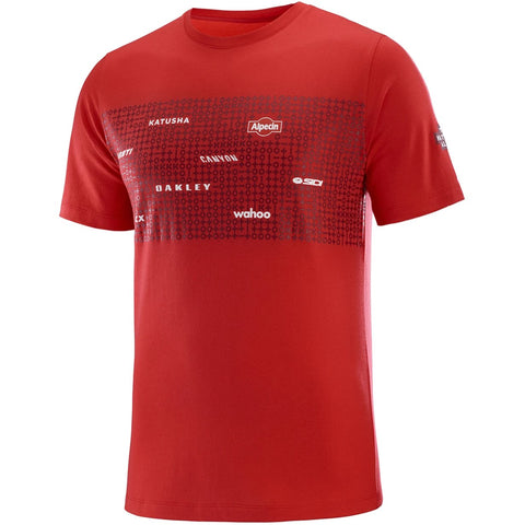 Team Katusha Alpecin Cotton Cycling T-Shirt - Coral