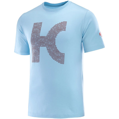 Team Katusha Alpecin Cotton Cycling T-Shirt - Light Blue