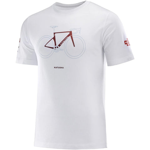 Team Katusha Alpecin Cotton Cycling T-Shirt - White