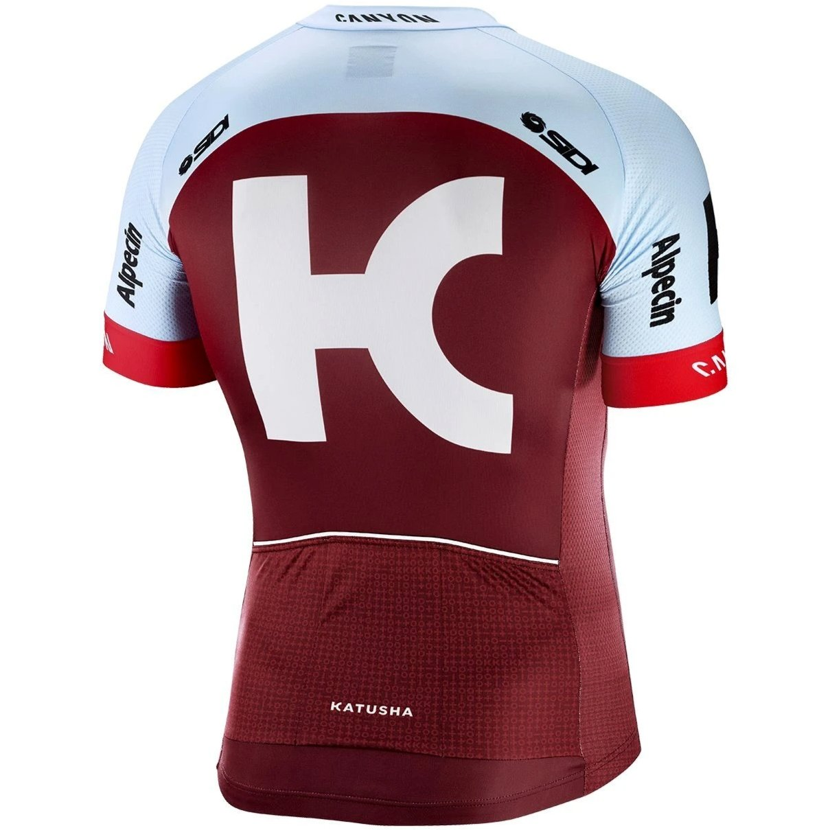 6a2ce30a8 Katusha REPLICA Short Sleeve Cycling Jersey 2018 - Sangre Blue ...