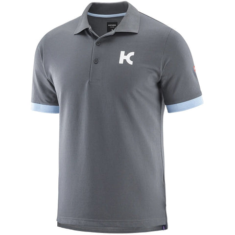 Team Katusha Alpecin Polo 37.5 Short Sleeve - Iron Gate Light Blue