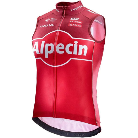 Katusha Cycling REPLICA Wind Vest 2017 - Coral Sangre