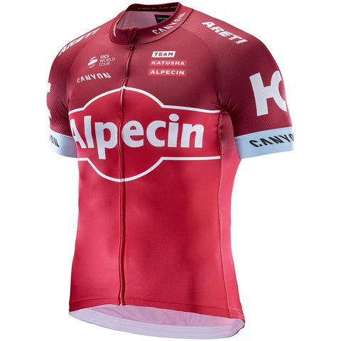 Katusha REPLICA Short Sleeve Cycling Jersey 2017 - Coral Sangre