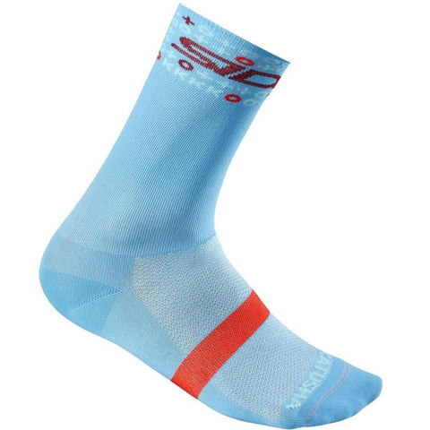 Team KATUSHA ALPECIN Cycling Socks Long - Light Blue