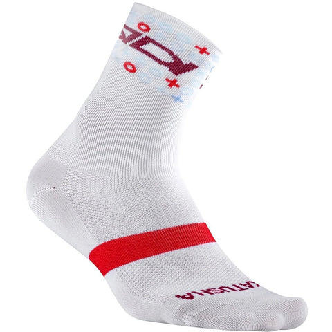 Team KATUSHA ALPECIN Cycling Socks Mid - White