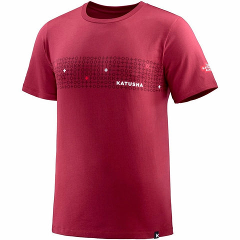 Katusha TEAM KATUSHA 2018 T-Shirt Short Sleeve - Sangre