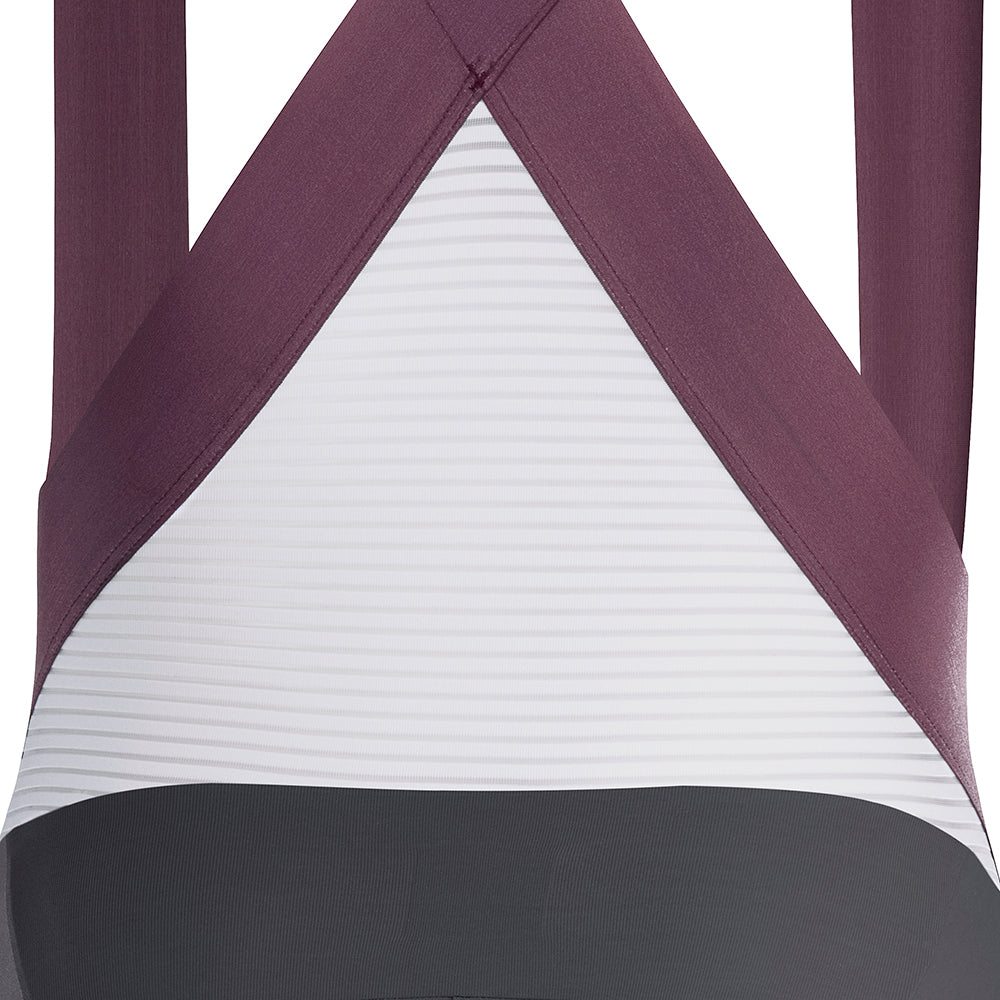 ALLURE Bib Shorts - Asphalt / Plum Wine