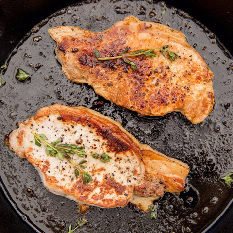 Pork Chops with Apple & Ginger Cider Sauce