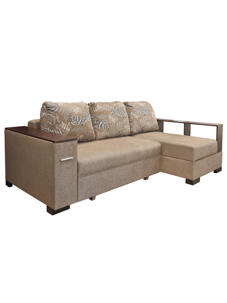 Sofa with sidetable