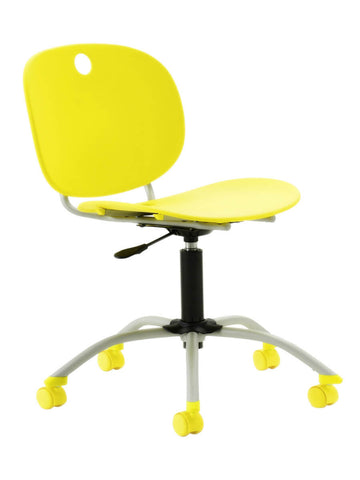 Yellow flated chair