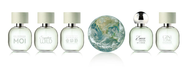 Planet Earth and Encore Une Fois, Gin and Tonic Cologne, Sensual Oud, Signature Wild, Excentrique Moi and Sea Foam by Art de Parfum. 100% pure perfume / extrait de parfum. Made in France.