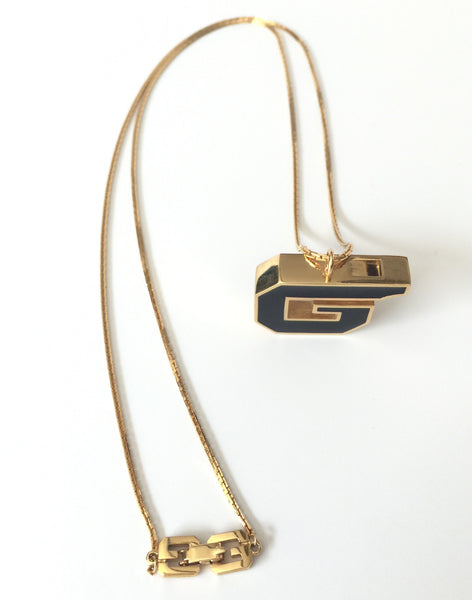 Givenchy 1970s whistle necklace