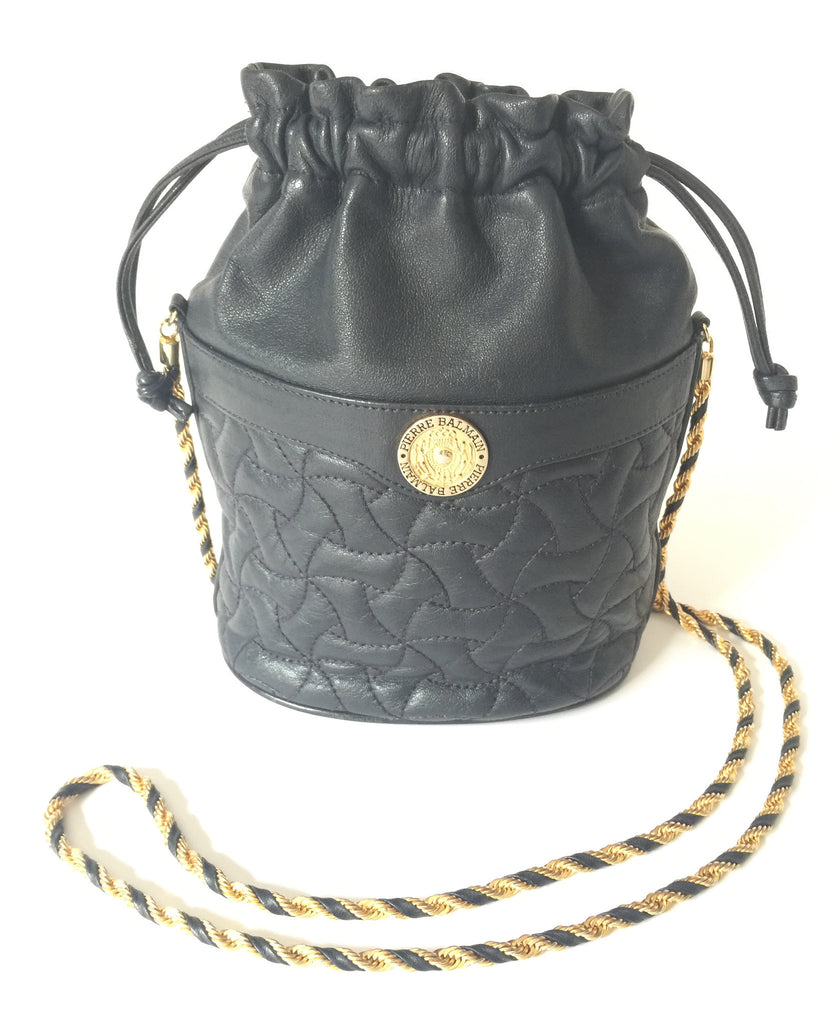 e0a4607bc244 Pierre Balmain 1980s Quilted Shoulder Bag vintage French handbag ...