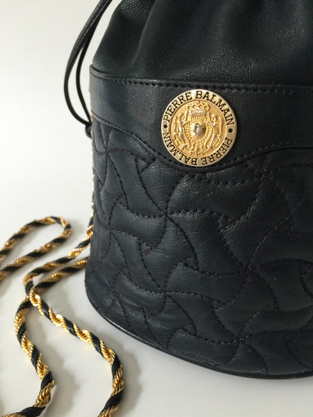 Pierre Balmain 1980s Quilted Shoulder Bag