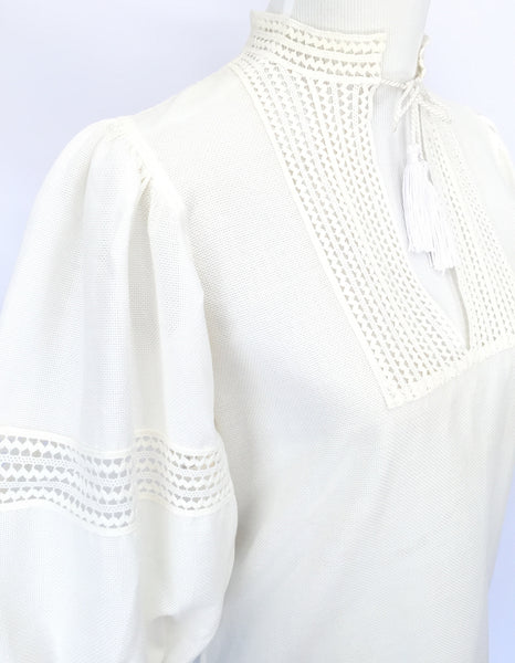 White Saint Laurent blouse