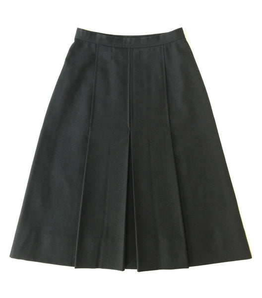 Saint Laurent Box-Pleated Skirt