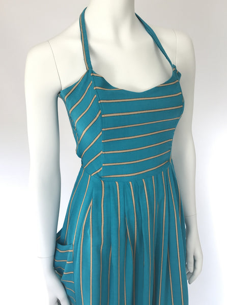 Turquoise halter dress