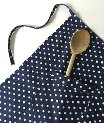 French Apron with Polka Dots