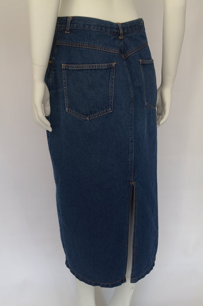 Midi Length Denim Skirt