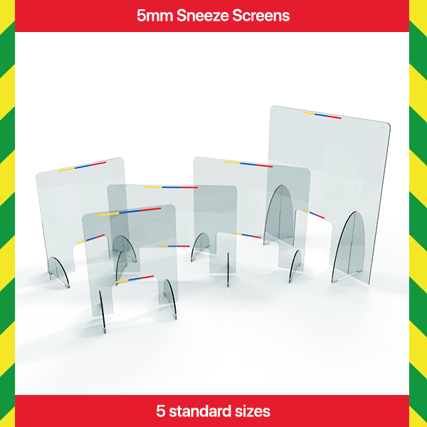 5mm Acrylic Sneeze Screens