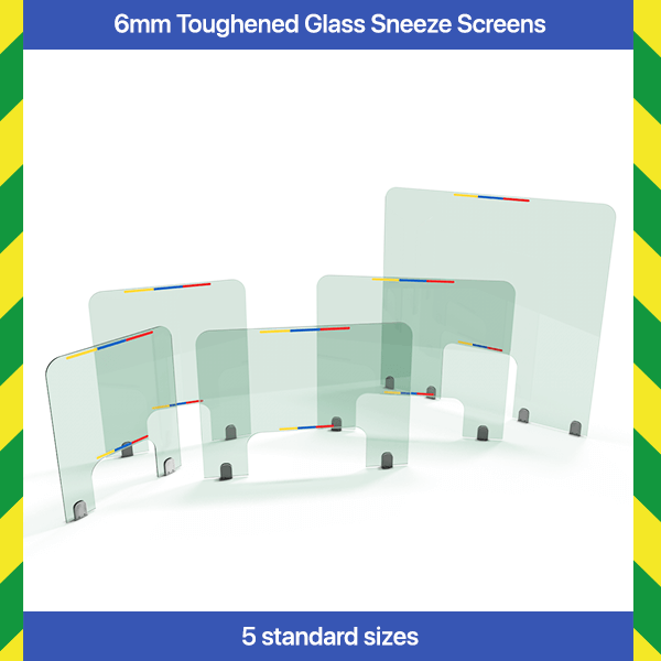 6mm Toughened Glass Sneeze Screens
