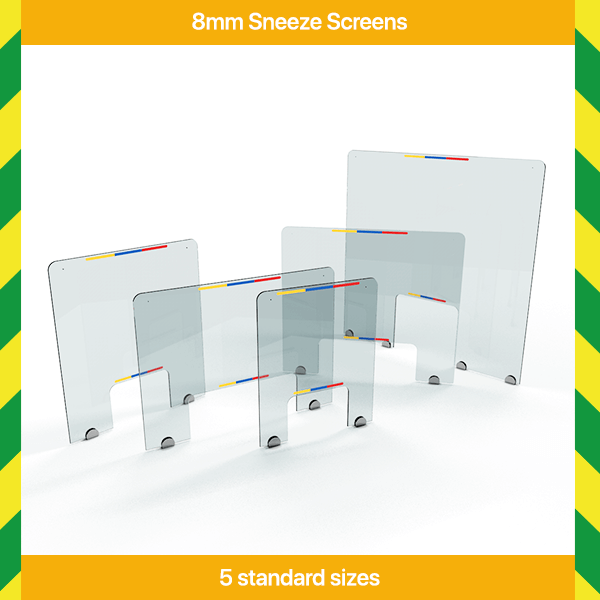 8mm Acrylic Sneeze Screens