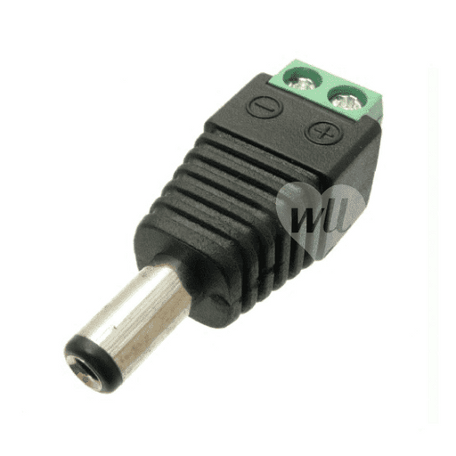 DC Power In-Line Screw Termination Plug, 2.1, 2A Connectors WeLoveLeds
