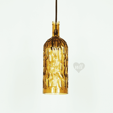 Modern glass lamp shades designer light fixtures we love leds caribbean glass shade cinder brown glass shade weloveleds mozeypictures Gallery
