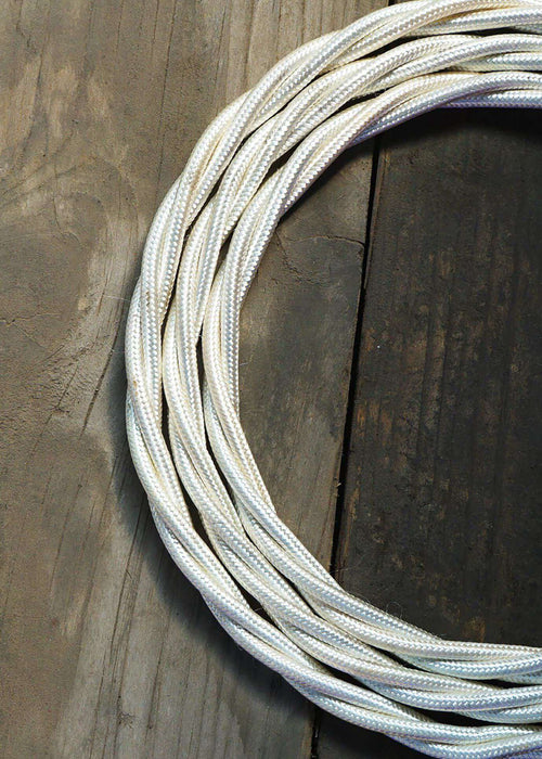 Fabric Lighting Cable - With-a-Twist - Hint of Cream Fabric Lighting Cable WeLoveLeds