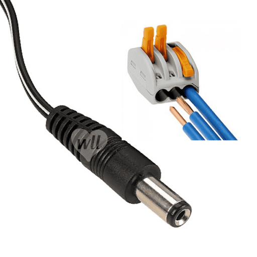 5m Single Wire Adaptor - 3A Cable WeLoveLeds