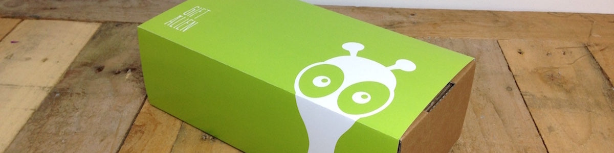 Every GiftAlien box is made from recycled/sustainable packaging and is 100% recyclable