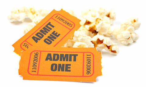 GiftAlien tickets and popcorn