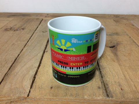 "ZX Spectrum ""Manic Miner"" hot drinks mug"