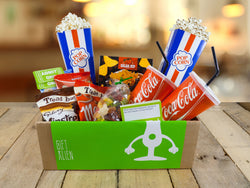 Movie Night Gift Box (enough nachos, popcorn, props & sweets for 2 people)